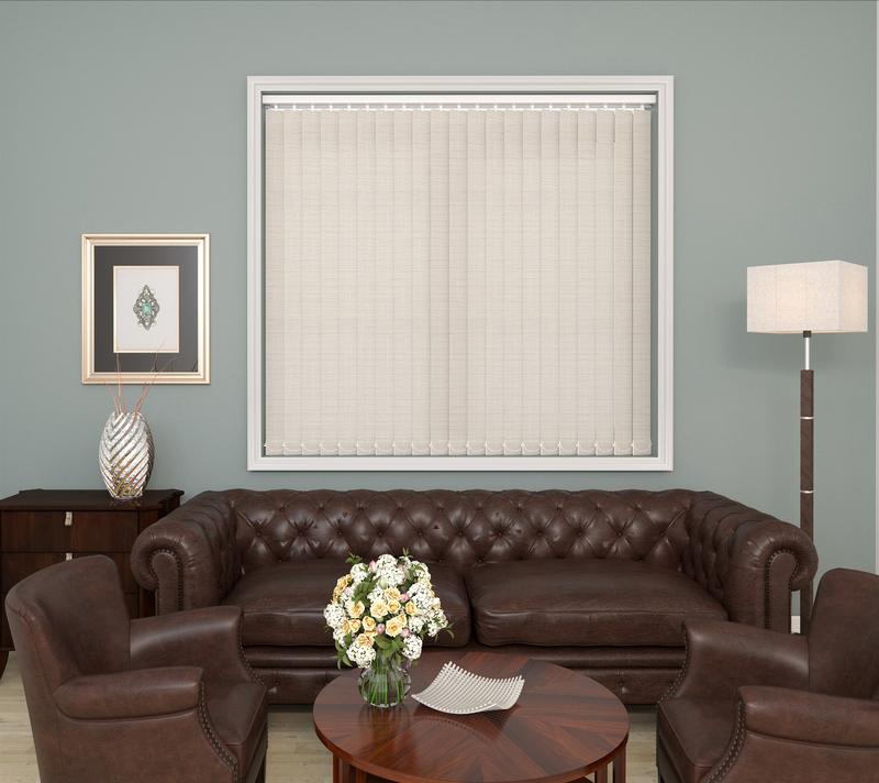 Mila Linnen Deco Vertical Blinds 89mm