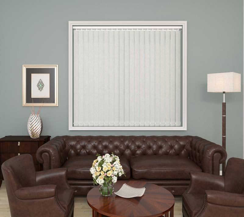 Olivia White Deco Vertical Blinds 89mm