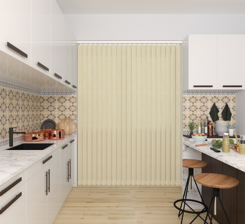 Sophia Vanilla Deco Vertical Blinds 89mm