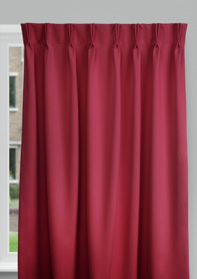 Cadix Red Budget curtains