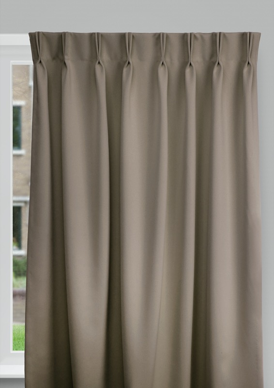 Cadix Brown Budget curtains