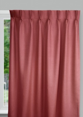 Bilbao Red Budget curtains